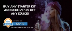 15% off E-Juice, with Any Starter Kit Purchase @ Vape Street
