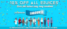 10% Off All E-Liquids – Labour Weekend Sale @ VapeStreet